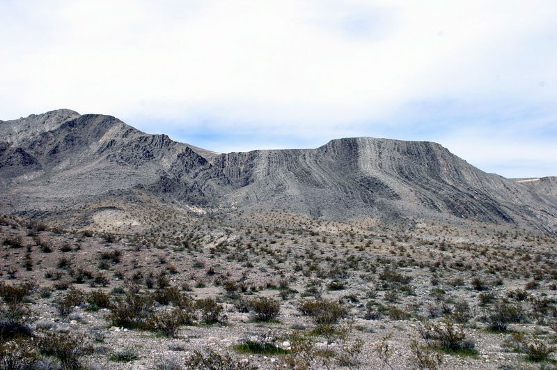 """<font size=""""+1"""">Back to Death Valley..  These were just some interestingly tilted strata.  Liked the black and white aspect of it. </font>"""