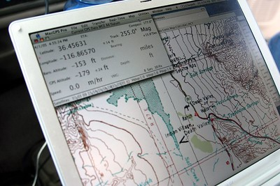 """MacGPS Pro is keeping good track of where we are.  Here, proof that we're """"under water"""", so to speak.."""