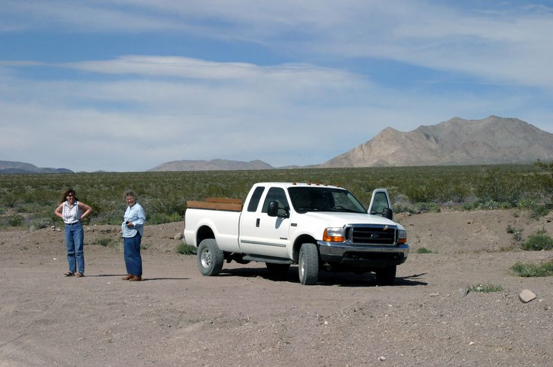 "<font size=""+1"">The truck, limping a little from the OEM sized spare tire, which is slightly smaller than all the rest. </font>"