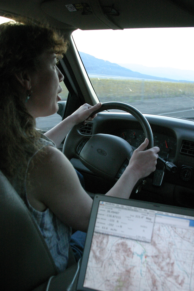 "<font size=""+1"">Tanya driving along and gawking at the shear beauty of it all.. </font>"