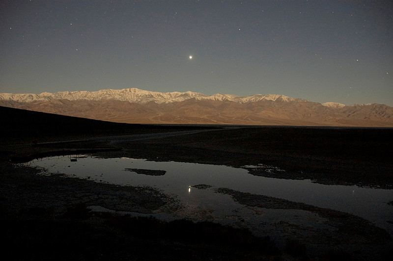 Badwater at night, Death Valley NP<br /> CCI