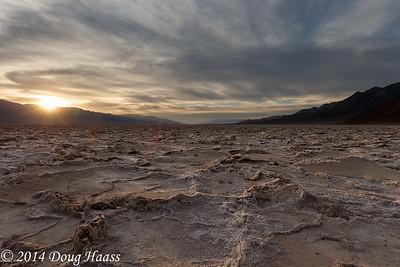 Badwater Basin - Salt Flats at Sunset