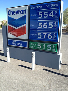 Gas at Furnace Creek, Death Valley NP, California 6/14/2014
