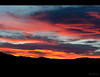 February sunset in Panamint Valley.  The night time temperature can be minus 2 C after a day when it hits 30C.
