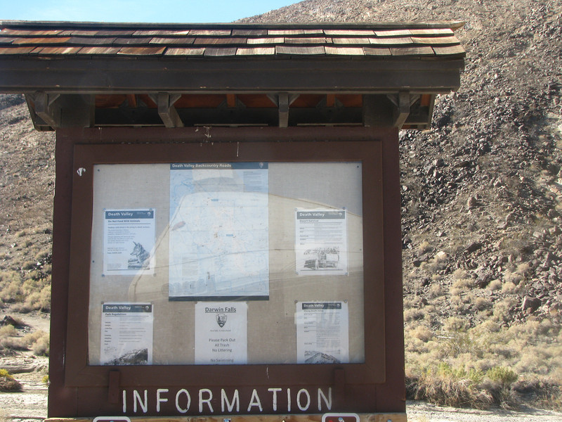 Trailhead information.