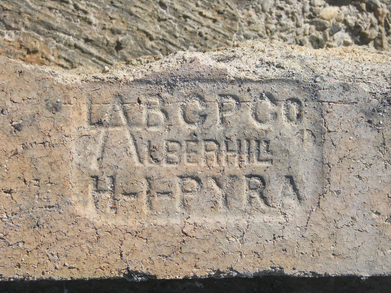 Many of the bricks had some type of name on them.