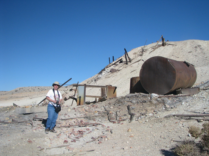 Stopping at the un-named mine in Last Chance Mountain.