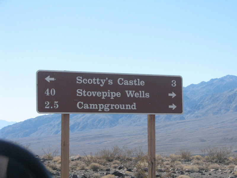 Up Grapevine Canyon to Scotty's Castle