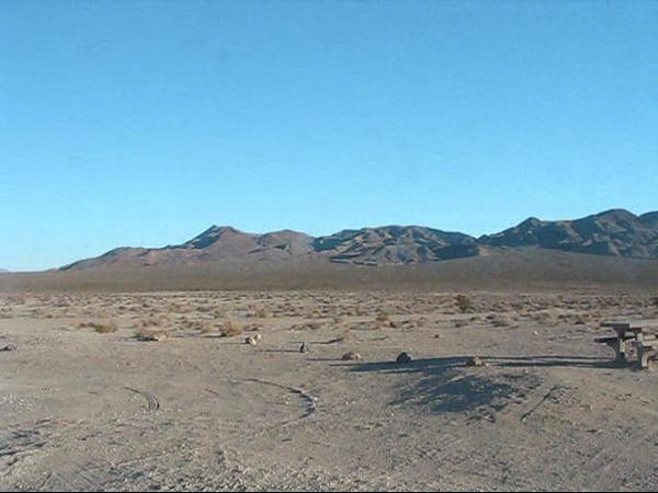 Leaving Eureka Dunes.