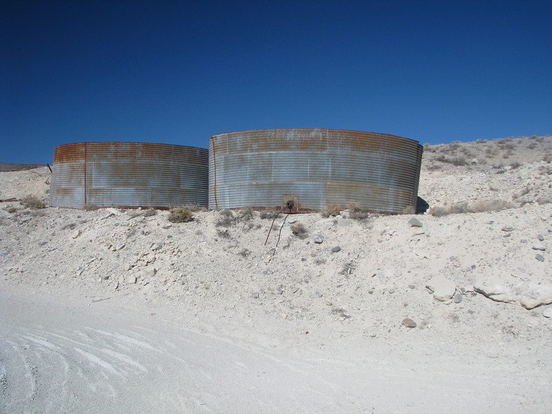 Old water tanks on the upper level.