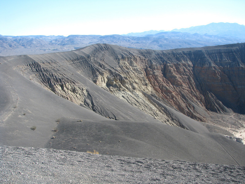Here we are, Ubehebe Crater a large one but not the largest we have been to.