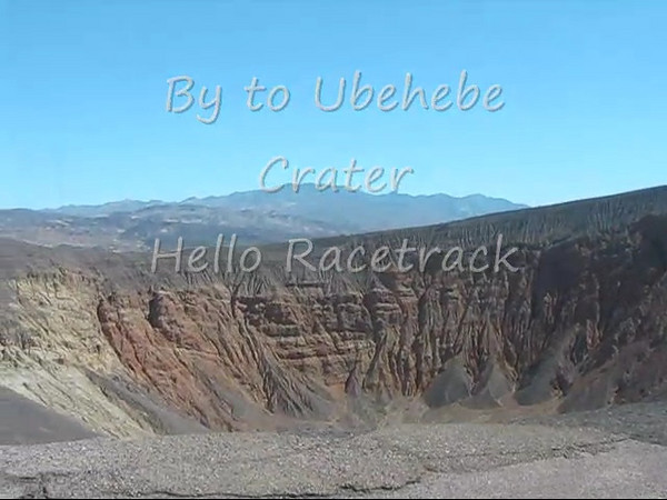 By Ubehebe Crater