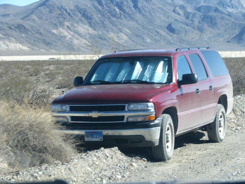 We thought this SUV had broken down until I saw the permit in the window, we would be sharing a campground later this day with these people.