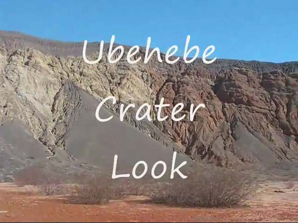 Ubehebe Crater, at the bottom.