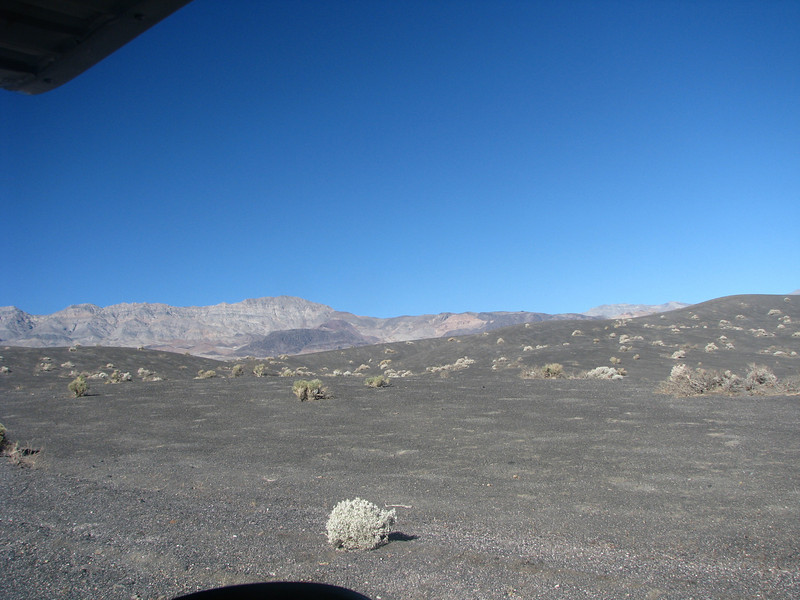 As we near Ubehebe Crater the landscape has changed into a more volcanic nature.