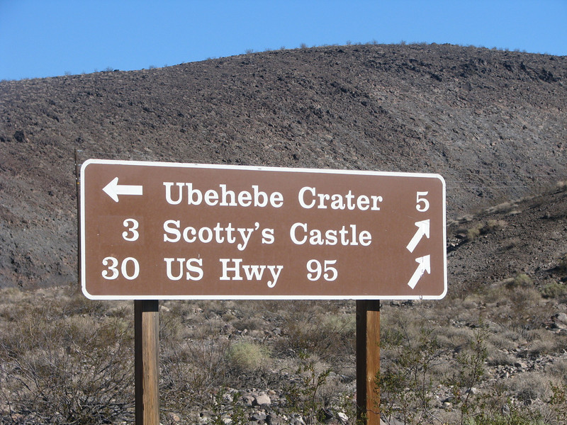 Road to Ubehebe Crater is very close to Mesquite Spring