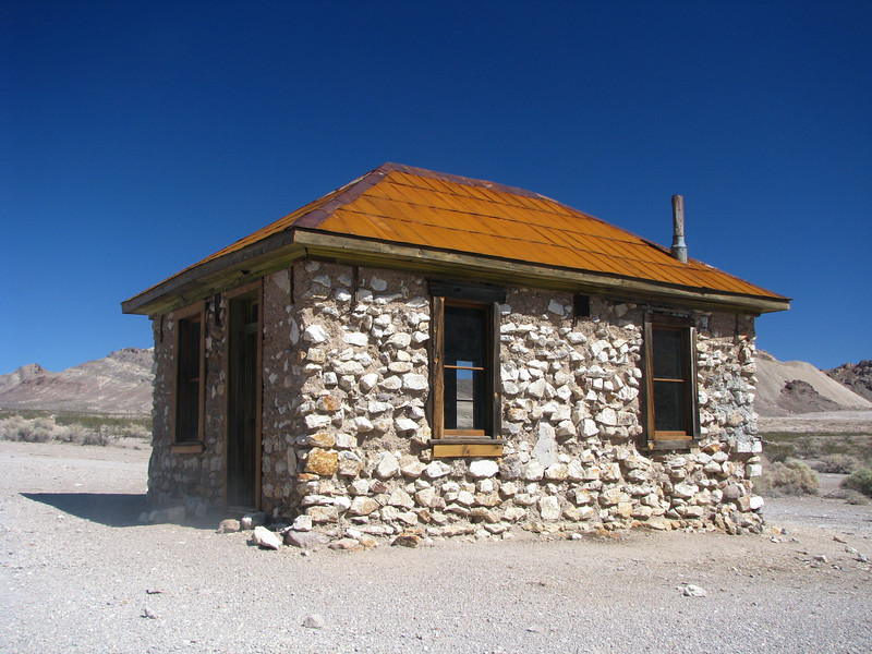 This was the Rhyolite sheiff's house.