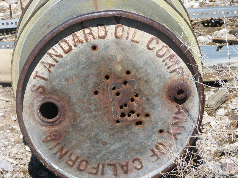 Stardard Oil has been around for a long time, see the bullet holes in the top of the drum.
