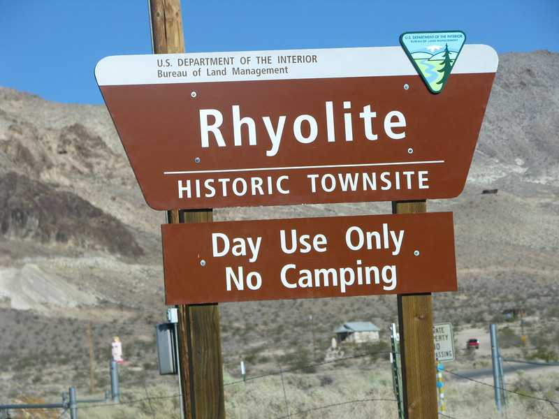 Rhyolite is managed by the BLM.