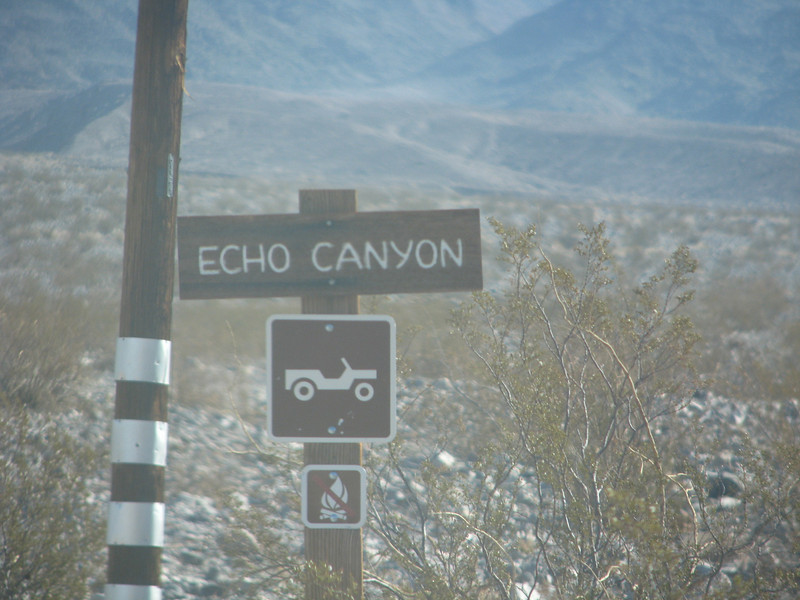 Heading to Echo Canyon and to see Inyo mine.