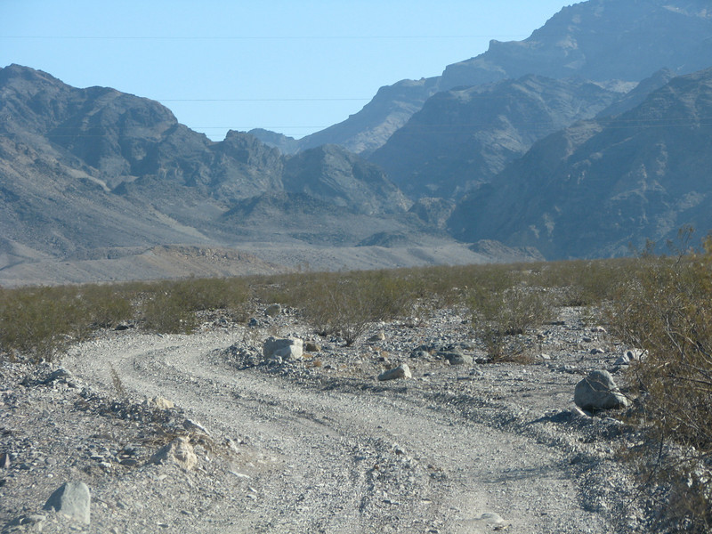 This part of Echo Canyon Road was a mixture of sand and gravel.