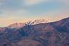 Third-morning sunrise on the salt pan. Looking up toward Telescope Peak, two miles above us.