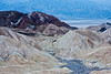 Zabriskie Point sunrise. Looking across the badlands to the valley below.