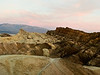 Sunrise at Zabriskie Point. A wider view of Manly Beacon.