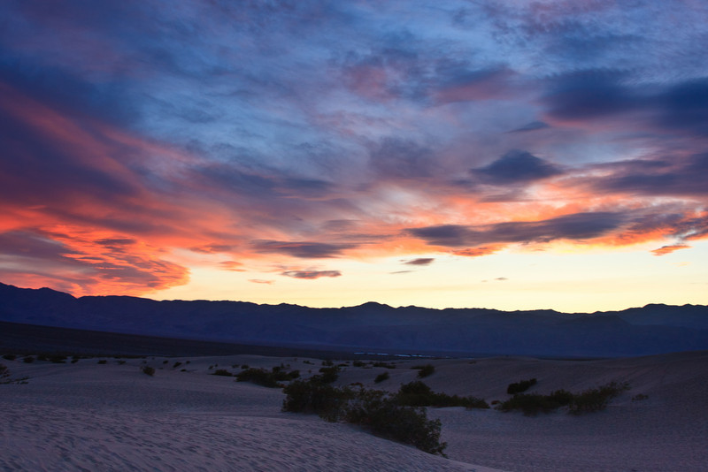Sunset the first day, Mesquite Flat Sand Dunes. Short-lived but beautiful color.