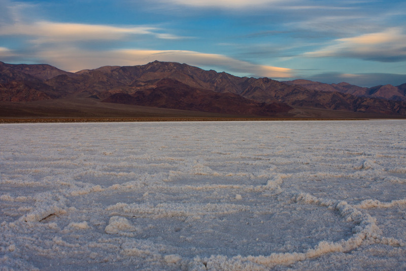 Third-morning sunrise on the salt pan. Interesting clouds