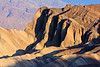 Sunrise at Zabriskie Point. Great early morning shadows.