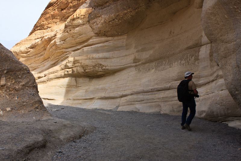 Mosaic Canyon. We were walking through a layer of marble at this elevation.