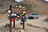 Teakettle Junction on the way to the Racetrack. People have been leaving teakettles here for a long time.