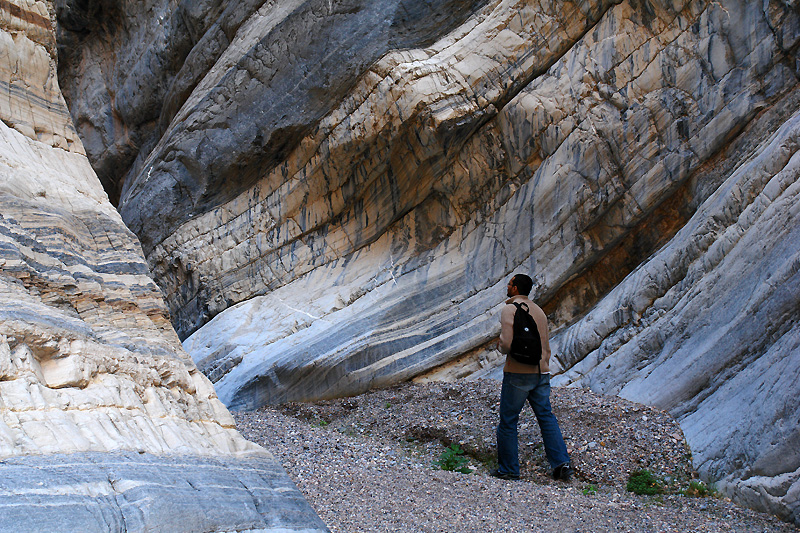 The amazing fall canyon narrows - brilliant patterns on the marble walls