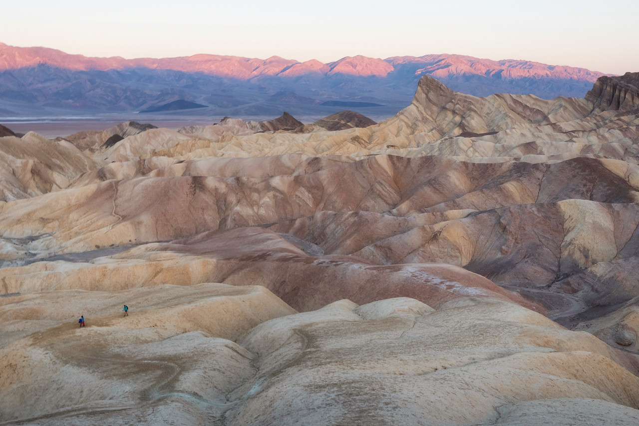Zabriskie Point, Death Valley National Park at Sunrise