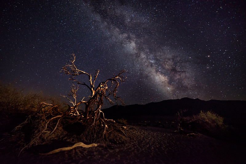 Milky Way from Mesquite Flats Sand Dunes