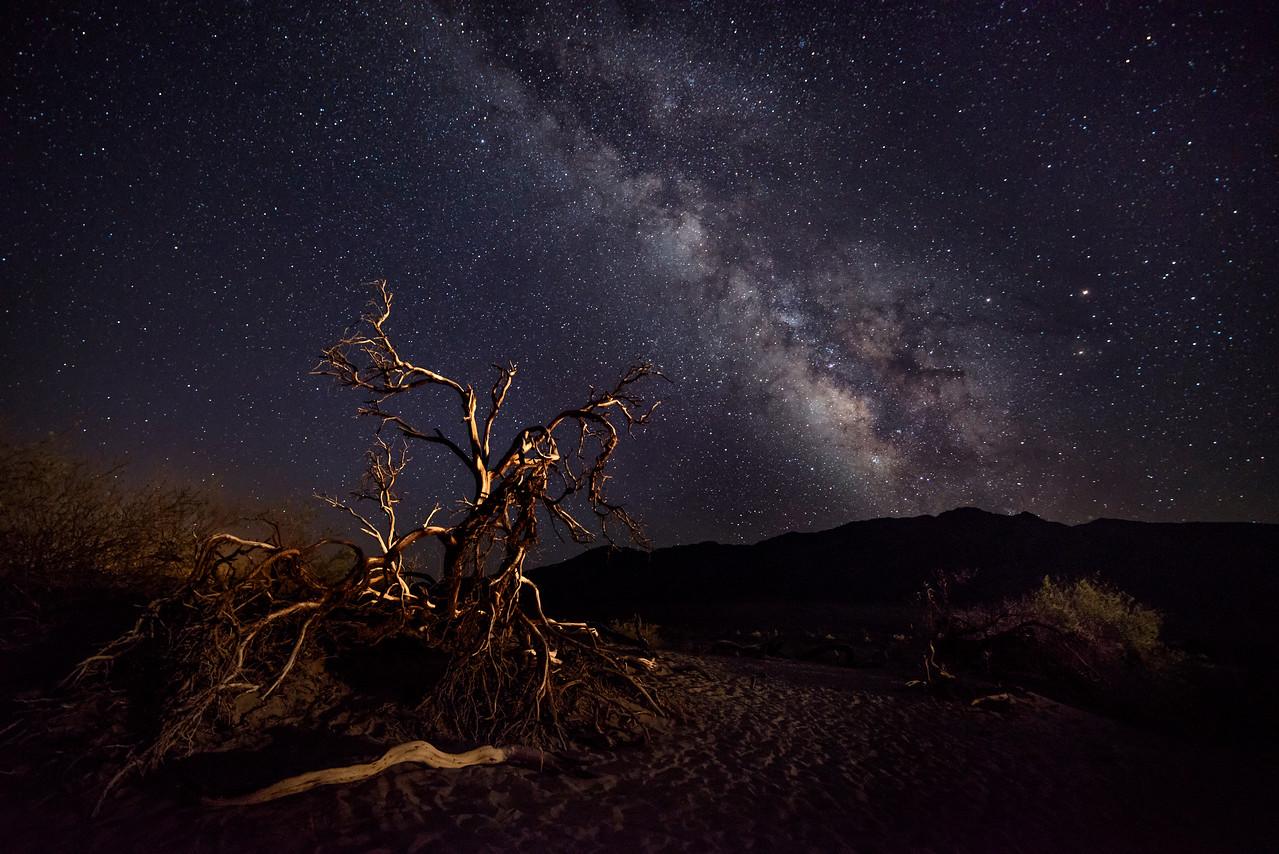 Milky Way from Mesquite Flats Sand Dunes