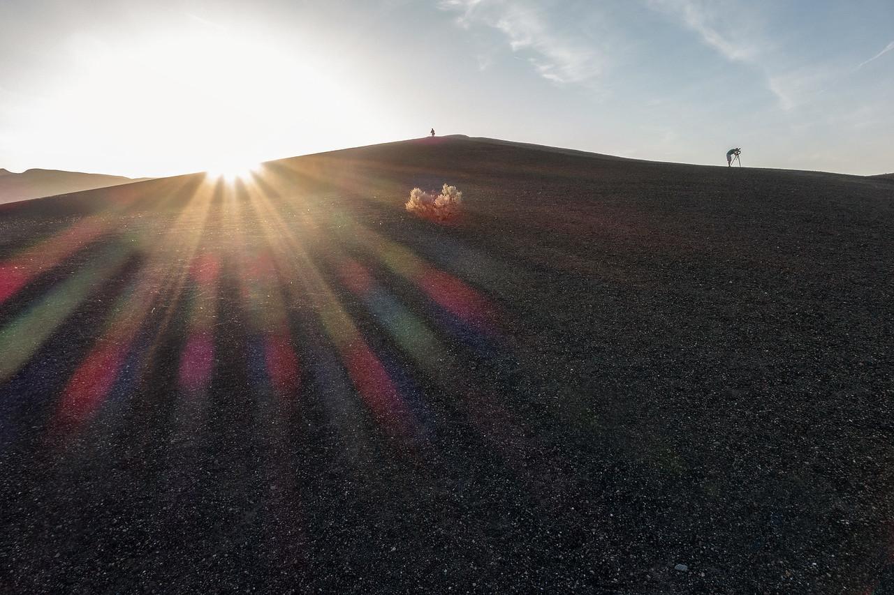 Sunrise at Ubehebe Crater