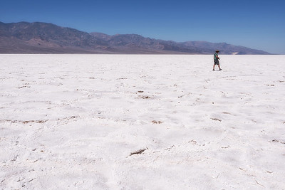 Salt flats of Badwater Basin