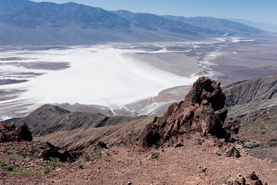 "Badwater Basin salt flats.  Later learned this is the ""Mos Eisley"" view in Star Wars."