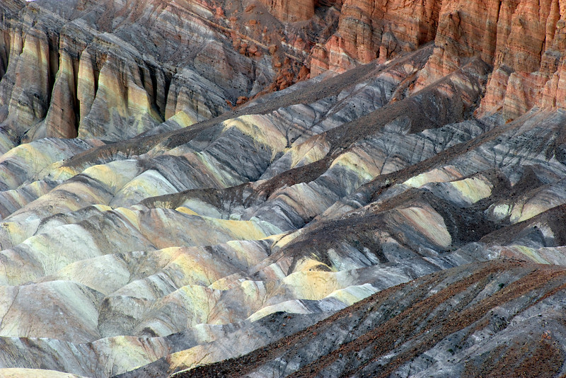 Colorful mudstone at Zabriskie's Point