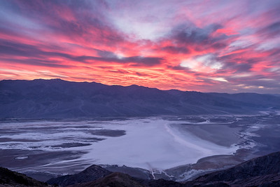 Sunset over Badwater Basin from Dante's View