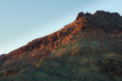 Layers of Titus Canyon hillsides sunset