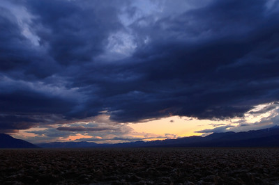 Sunset Storm - Death Valley