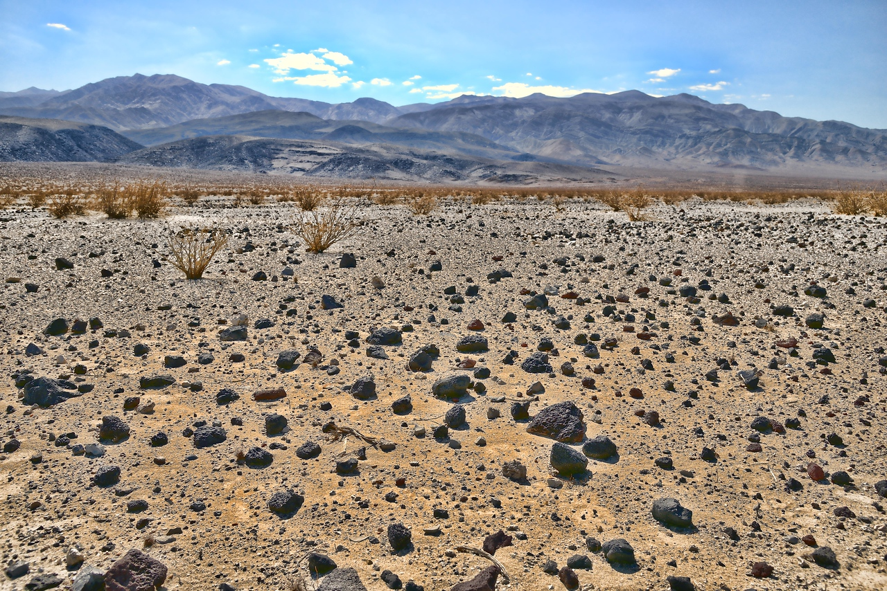 Driving through Death Valley on Panamint Valley Road we came upon this lava stone debris field. Pretty cool.