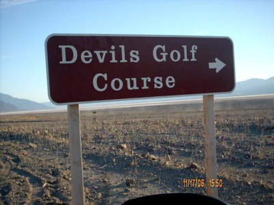 Devils Golf Course <br /> Devils Golf Course was close to Artist Drive,which was good,we were running out of daylight.