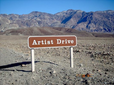 Artist Drive <br /> This is our 1st. stop.