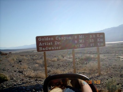 Badwater Road <br /> On our way to see some of the sights before sundown.