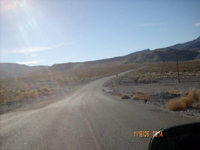 On the Road <br /> This was pretty typical paved road in Death Valley.