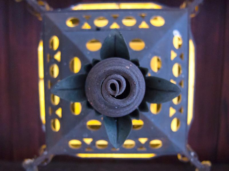 "<span id=""title"">Spiral Lamp</span> <em>Scotty's Castle</em> A cool lamp at Scotty's Castle."